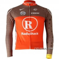 2010 Radioshack Red Cycling Long Sleeve Jersey Tj-029-6213 Discount