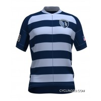 Copuon Mls Sporting Kansas City Short Sleeve Cycling Jersey Bike Clothing Cycle Apparel Tj-498-5157