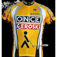 2001-2003 Once Eroski Vintage Unique Cool Short Sleeve Cycling Jersey Yellow Tj-605-7140 Discount