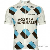 Ag2R La Mondiale 2010 Vermarc Radsport-Profi-Team Short Sleeve Cycling Jersey Tj-056-6218 Best