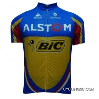 2012 Alstom Bic Short Sleeve Cycling Jersey Blue Yellow Edtion Tj-666-2448 Online