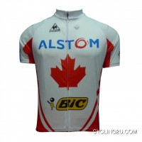 New Release 2012 Alstom Bic Cycling Short Sleeve Jersey Red White Edtion TJ-979-7695