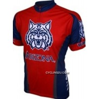 Free Shipping U Of A, UA University Of Arizona Wildcats Red Cycling Jersey TJ-187-1056