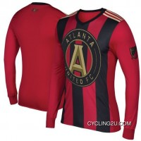 Mls Atlanta United Fc Long Sleeve Cycling Jersey Bike Clothing Cycle Apparel Shirt Outfit Tj-646-0654 Free Shipping