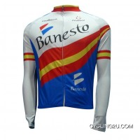 Banesto Team Winter Fleece Long Sleeve Cycling Jersey Jackets Tj-279-3339 For Sale
