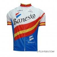 Free Shipping Banesto Team Short Sleeve Cycling Jersey Tj-126-4525