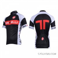 Online 2012 Castelli Black Red Short Sleeve Jersey Tj-623-5581