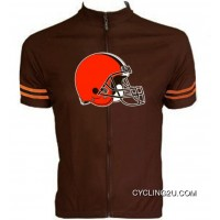 New Release Nfl Cleveland Browns Cycling Jersey Short Sleeve Tj-691-7137