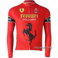 New Style Team Colnago Red Cycling Long Sleeve Jersey Tj-054-3592