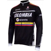 2012 Colombia Coldeportes Team Long Sleeve Cycling Jersey Tj-675-0739 Discount