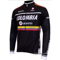 2012 Colombia Coldeportes Winter Fleece Long Sleeve Cycling Jersey Jackets Tj-437-5861 Super Deals