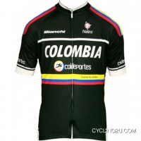 New Year Deals Colombia - Coldeportes 2012 - Radsport-Profi-Team Cycling Short Sleeve Jersey TJ-807-3167