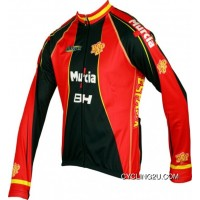 2012 España Murcia Inverse Radsport-Profi-Team-Winter Fleece Long Sleeve Jersey Jacket Tj-957-0317 Online