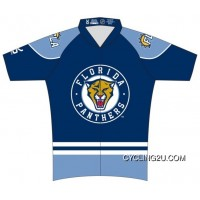 Copuon Florida Panthers Man Cycling Jersey Short Sleeve Tj-388-5705