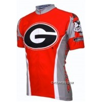 Top Deals UGA University Of Georgia Bull Dogs Cycling Short Sleeve Jersey TJ-922-7011