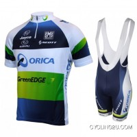 For Sale 2013 Orica Greenedge Cycle Jersey Short Sleeve + Bib Shorts Kit Tj-236-7177