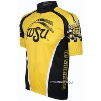 Outlet Wsu Wichita State University Shockers Cycling Short Sleeve Jersey Tj-171-8962