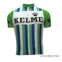 Kelme Throwback Green Cycling Jersey Short Sleeve Tj-258-3189 New Release