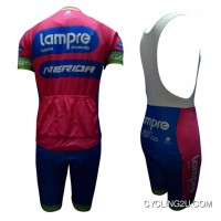 New Year Deals 2013 Team Lampre Merida Cycle Jersey + Bib Shorts Kit Tj-937-7245