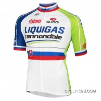 2012-2013 Liquigas-Cannondale Slovakian Champion Short Sleeve Jersey Tj-504-5496 Discount