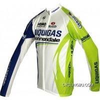 New Style Liquigas Cannondale 2011 Sugoi Radsport-Profi-Team Winter Fleece Long Sleeve Jersey Tj-156-4719