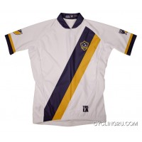 Best MLS LA Galaxy Short Sleeve Cycling Jersey Bike Clothing Cycle Apparel TJ-533-9231
