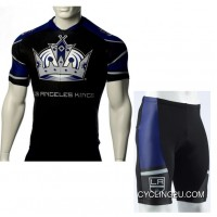 New Style NHL Los Angeles Kings Cycling Jersey Bike Clothing Cyclist Outfit Cycle Garb Shorts Set Kit TJ-882-4619