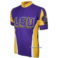 New Style Lsu Louisiana State University Cycling Jersey Tj-301-7320