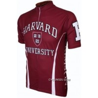 Copuon Harvard University Crimson Cycling Jersey TJ-516-7839