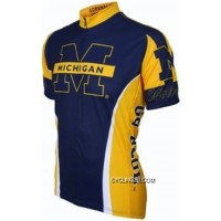 Online UM Umich University Of Michigan Wolverines Cycling Short Sleeve Jersey TJ-954-7712