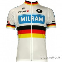 Milram German Champ 2010 Vermarc Professional Cycling Team - Cycling Jersey Short Sleeve Tj-482-7441 New Style