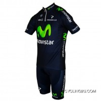 New Year Deals 2013 Movistar Professional Team Cycle Jersey Short Sleeve + Shorts Kit Tj-208-2905
