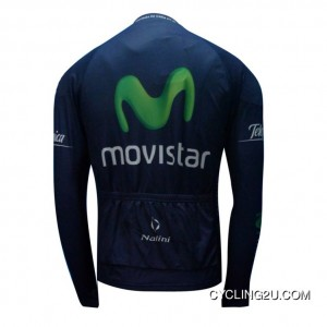 Copuon 2013 Movistar Cycling Long Sleeve Winter Jacket Tj-735-4109
