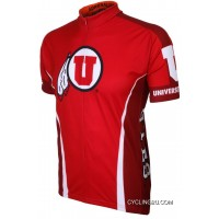 U Of U University Of Utah Runnin Utes Cycling Short Sleeve Jersey TJ-129-6185 New Style