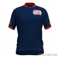 Copuon Mls New England Revolution Short Sleeve Cycling Jersey Bike Clothing Cycle Apparel Tj-165-1366