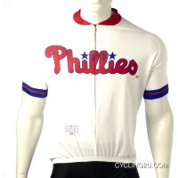 Discount Mlb Philadelphia Phillies Cycling Jersey Short Sleeve Tj-038-0127