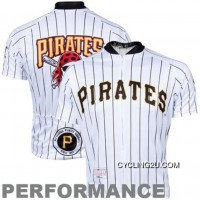 Copuon Mlb Pittsburgh Pirates Cycling Jersey Short Sleeve Tj-363-4821