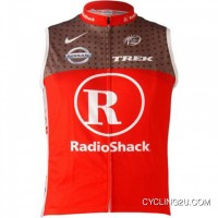 New Style Team RadioShack Cycling Thermal Sleeveless Vest RED TJ-450-3813
