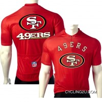 NFL San Francisco 49ers NINERS Cycling Short Sleeve Jersey TJ-641-5952 Discount
