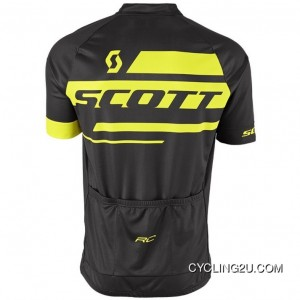 Scott Rc Team 10 Black-Yellow Short Sleeve Cycling Jersey Bike Clothing Cycle Apparel Shirt Tj-274-3136 For Sale