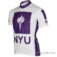 Outlet New York University NYU Short Sleeve Cycling Jersey TJ-932-9345