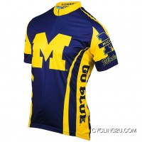 University Of Michigan Umich Wolverines Cycling Short Sleeve Jersey Tj-934-6748 Super Deals