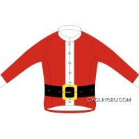 Free Shipping Santa Claus Xmas Christmas Fleece Lined Winter Thermal Cycling Jersey Jacket TJ-531-0944