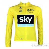 Sky Team 2013 Cycling Long Sleeve Jersey Yellow Tj-570-9626 Outlet