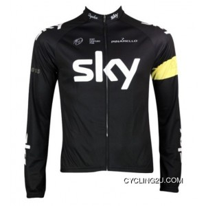 Super Deals 2013 Team SKY Victory Cycling Long Sleeve Jersey Yellow Armband TJ-320-6262