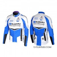 2008 SUBARU Cycling Team Long Sleeve JACKET TJ-121-9342 Discount