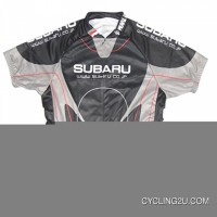 Subaru Black Short Sleeve Cycling Jersey TJ-055-4362 Super Deals