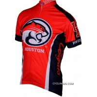 Free Shipping Uh University Of Houston Cougars Cycling Short Sleeve Jersey Tj-709-3214