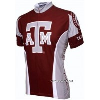 Best Texas A&M Aggies Cycling Short Sleeve Jersey TJ-795-2043