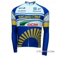 Vacansoleil-Dcm Long Sleeve Jersey 2012 Tj-198-9097 Free Shipping